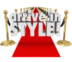 an event, party or grand opening with glamour, chic and beautiful fashion